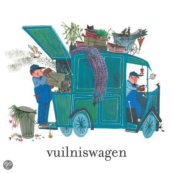 vuilniswagen, illustration by Fiep Westendorp