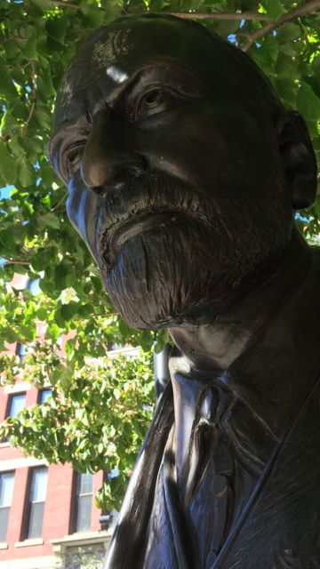 Sigmund Freud statue at Clark University in Worcester, Mass.
