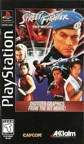 Complete Street Fighter The Movie - PS1 Game Long Box