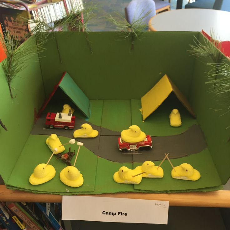 Bedford Library 2016 Peeps Contest | Camp Fire | In the Family Category