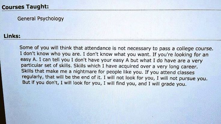 Dutch psychology teacher about attending his classes... - Imgur