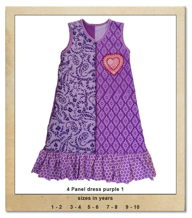 Sillybilly© clothing:  4 Panel dress purple 1