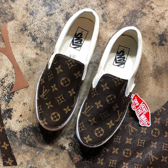 72580a5d170d Vans custom Louis Vuitton lv slip on