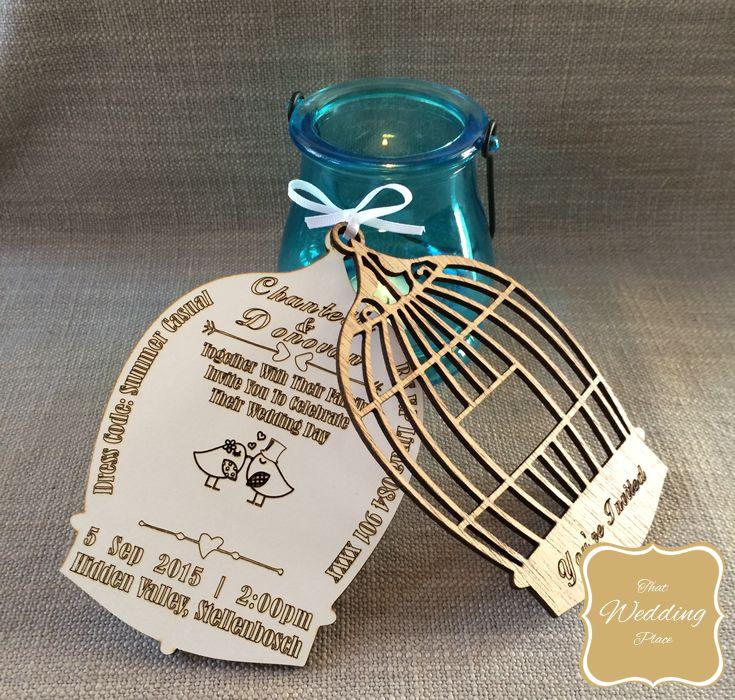 Wedding invite - Bird Cage