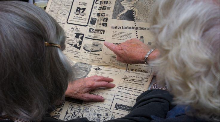 Tijdmachine - foto krant