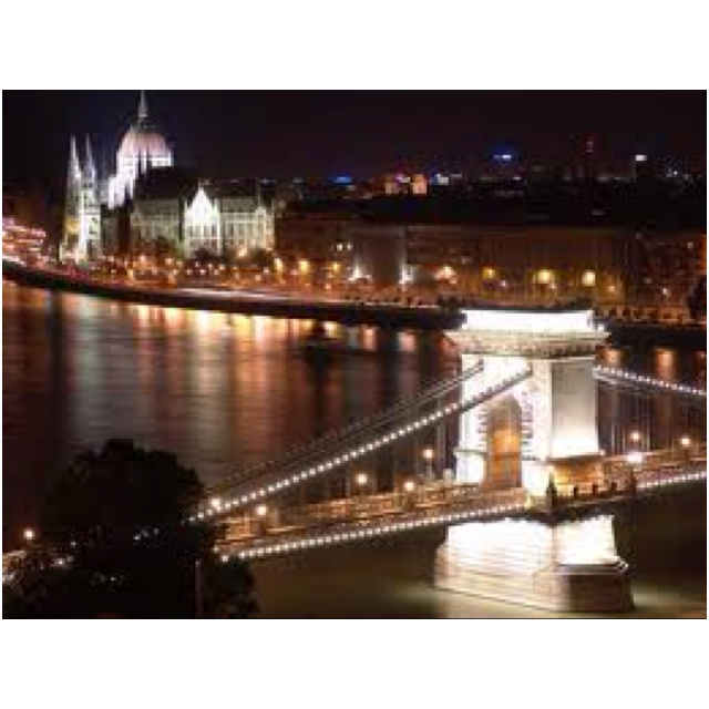 Budapest ... The amount of times i walked over this bridge at night was ridiculous