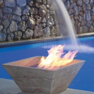 camino a bioetanolo vaso riscaldante a base quadrata design  #bbdesign #designhome #arredoesterno