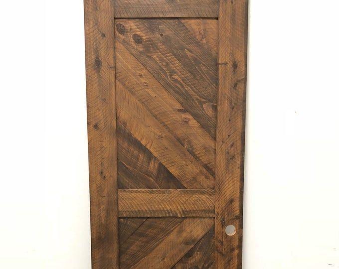 Solid Cypress Sliding Chevron Barn Doors Built To Order Antique French Doors Barn Door Sliding French Doors