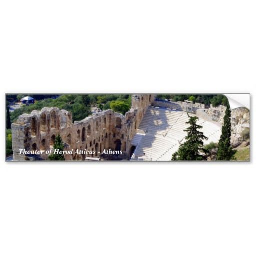 Theater of Herod Atticus - Athens Bumper Stickers