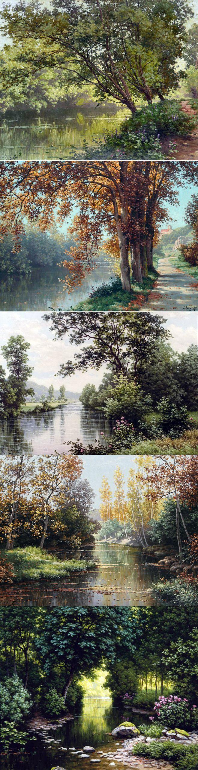 Французский художник Rene Charles Edmond His | Интересные Картинки. Фотографии, обои на рабочий стол, рисунки и графика