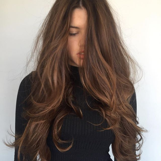 Image result for espresso brown hair with cinnamon, mocha soft balayage
