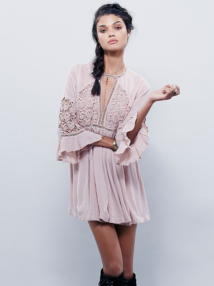 Free People Wildest Dreams Lace Tunic at Free People Clothing Boutique