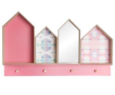 Настенная вешалка с зеркальцем Home