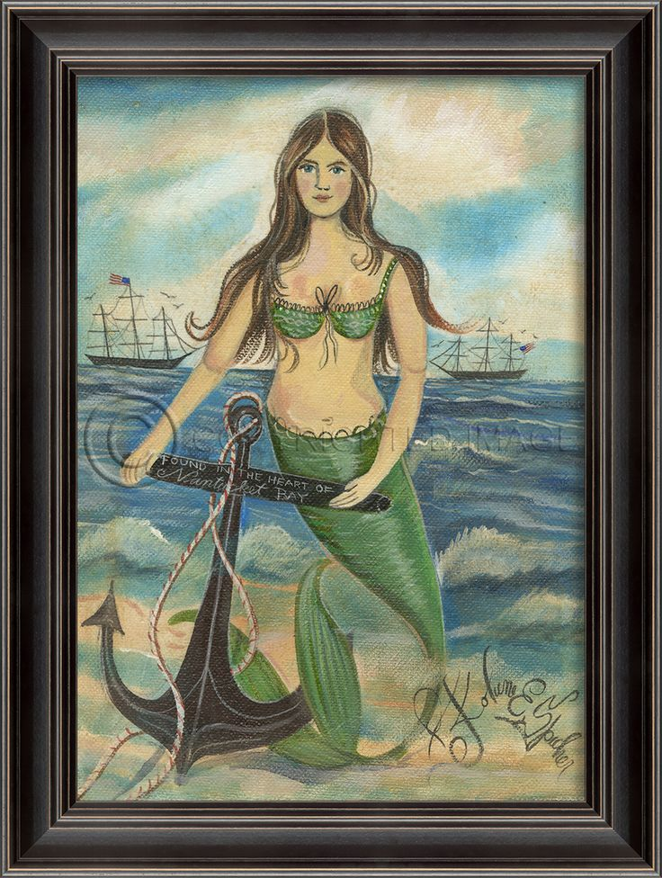 Found in the Heart of Nantucket Mermaid - Love Kolene Spicher's work!