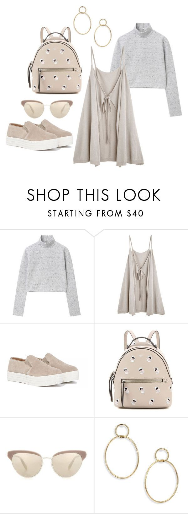 """""""Untitled #294"""" by leilabas ❤ liked on Polyvore featuring Steve Madden, Fendi, Oliver Peoples and Jules Smith"""