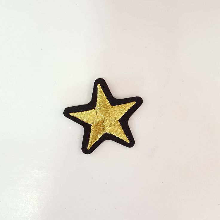 Cute Small Golden Star Iron-On Patch
