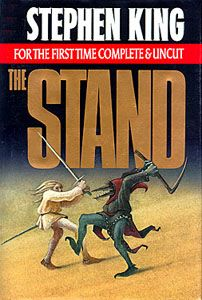 The Stand by Stephen King....awesome book! one of the first of his i read....and i was like....WTF, during and after