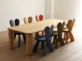 funny ecological kids furniture chairs tables rabbit style