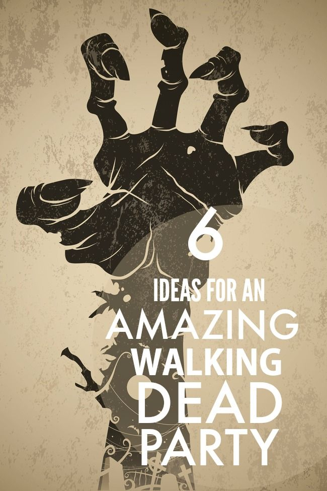 6 Ideas for an Amazing Walking Dead Party - Great for a midseason premier viewing party, I can't deny my love for walking dead! Zombies, plot twist