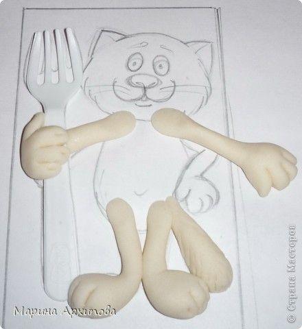Мастер-класс Лепка Котик-коток Тесто соленое фото 8