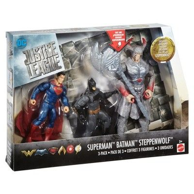 DC Justice League Battle In a Box Batman, Steppenwolf, and Superman Figures 3pk