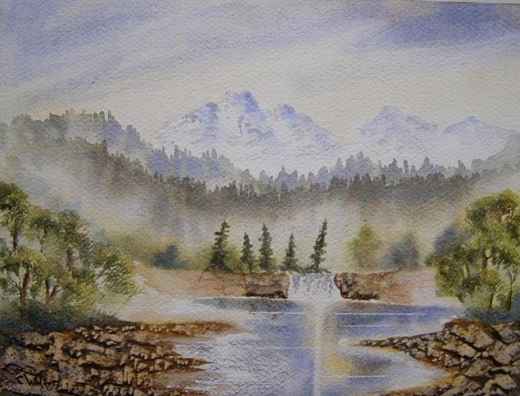 Far Off Mountains 12 x 9 Watercolour