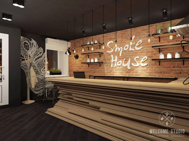 Finde Industrial Bars & Clubs Designs in Schwarz von Мастерская дизайна Welcome Studio. Entdecke die schönsten Bilder zur Inspiration für die Gestaltung deines Traumhauses.