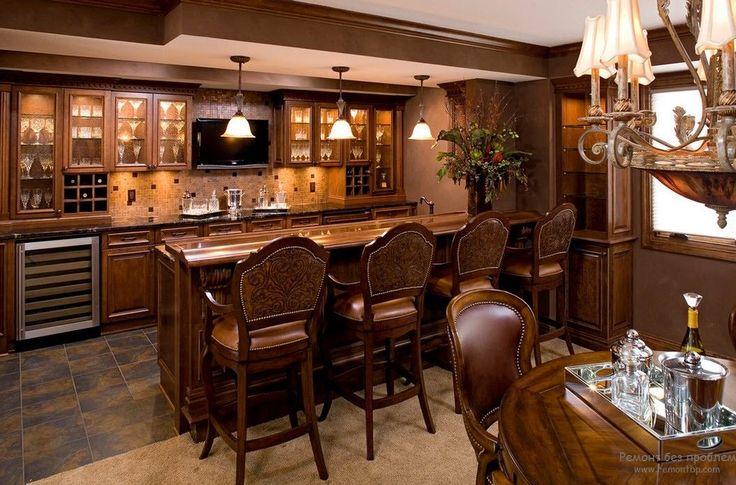 Современный дизайн кухни с барной стойкой   50 идей для интерьера