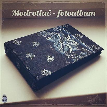 Blue print book / photoalbum / slovak / folk / handmade / bookbinding / belgian binding / album / by ardeas http://www.ardeas.sk/
