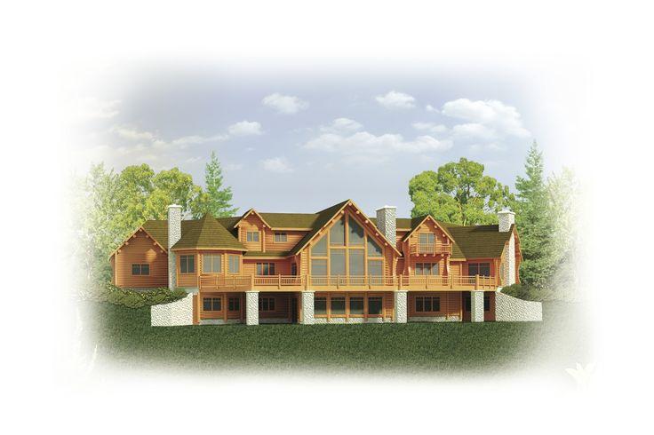 Sunset Harbor Floor Plan Strongwood Log Home Company 4