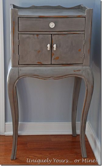 Pulaski Nightstand Painted In Pittsburgh Gray CeCe Caldwell Clay U0026 Chalk  Paint. Refinished FurniturePaint FurnitureFurniture RefinishingAnnie ...
