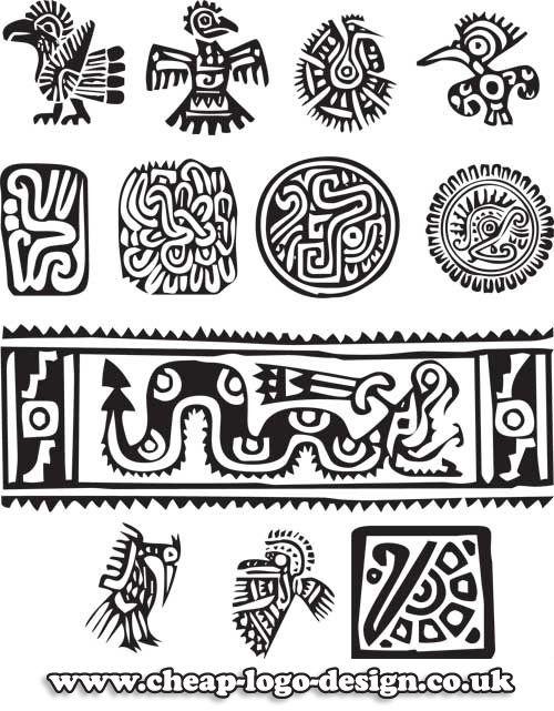 25 best ideas about aztec symbols on pinterest mayan for Cheap logo