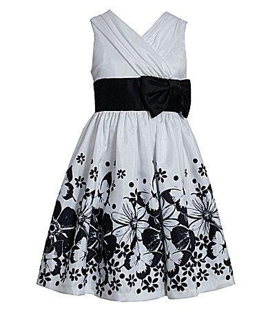 Bonnie Jean 716 PrintedSkirt Shantung Dress #Dillards $45