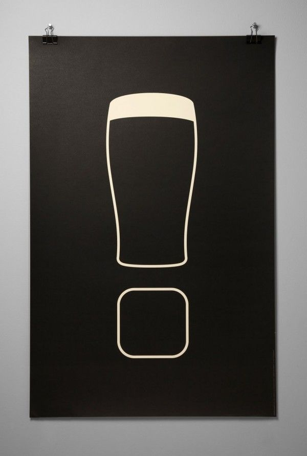Minimalist Guinness Poster by Danilo Boer posters and prints minimal illustration guinness beer