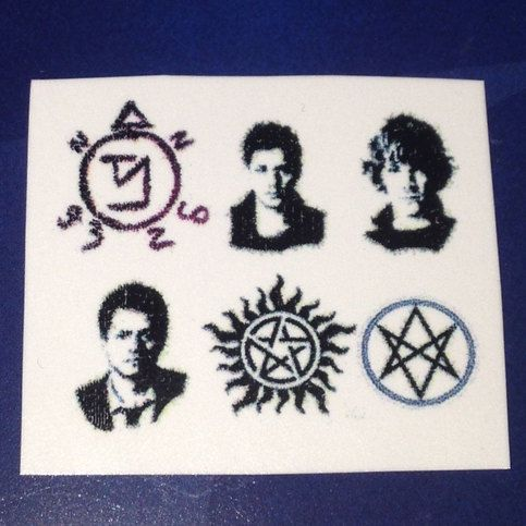 Supernatural nail decals water transfer x 2 sheets Dean Winchester Sam Winchester Castiel SPN misha collins Jared padalecki jensen ackles sold by VEEGIGGITY. Shop more products from VEEGIGGITY on Storenvy, the home of independent small businesses all over the world.