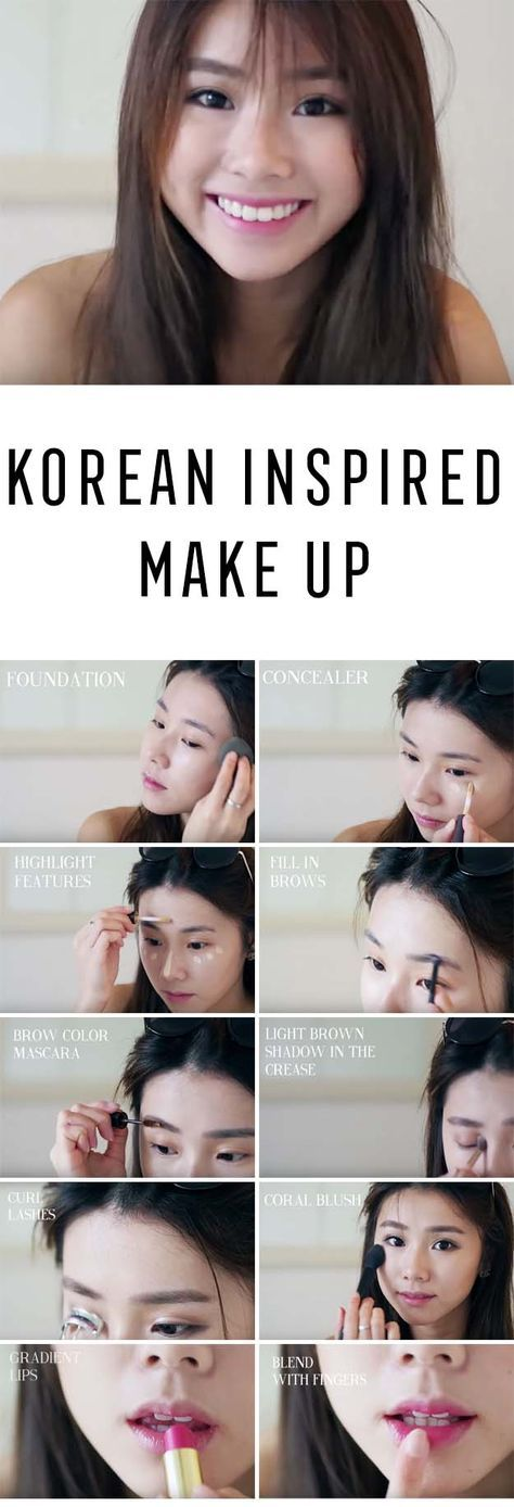 Best Korean Makeup Tutorials - Korean Inspired Make Up Mongabong (Current Make Up Routine) - Natural Step By Step Tutorials For Ulzzang, Pony, Puppy Eyes, Eyeshadows, Kpop, Eyebrows, Eyeliner and even Hairstyles. Super Cute DIY And Easy Contouring, Foundation, and Simple Dewy Skin Help For Beginners - https://thegoddess.com/best-korean-makeup-tutorials