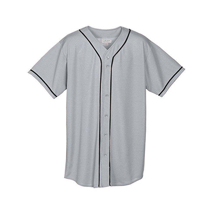 Augusta Herren Sportswear Wicking Mesh Button Front Baseball Jersey mit  Braid Trim Gr. Small,