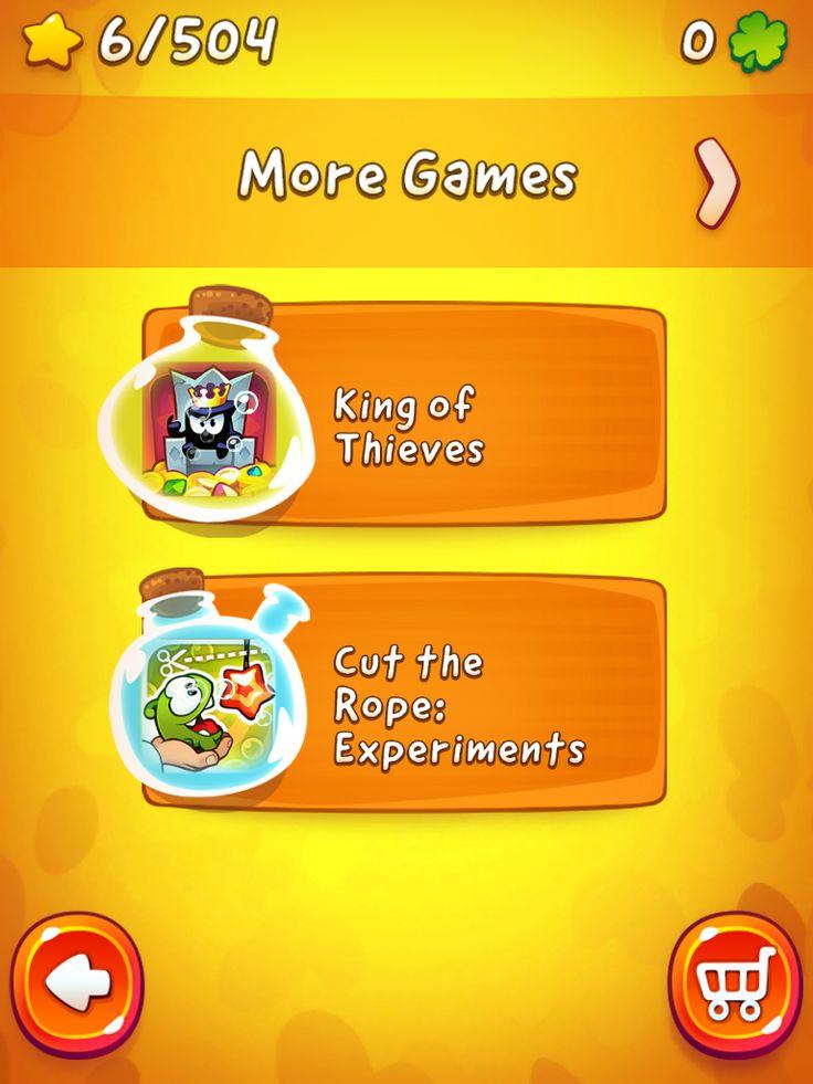 CUT the ROPE 2 | Map Progression Monetisation | UI, HUD, User Interface, Game Art, GUI, iOS, Apps, Games, Grahic Desgin, Puzzle Game, Brain Games, Zeptolab | www.girlvsgui.com