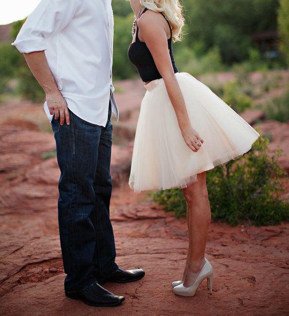 Tulle Skirt Bridal Shower Bridesmaid Skirt Tutu Skirt Flower Girl Tutu Skirt Blush Tutu Skirt Ivory Tutu Skirt Engagement Dress