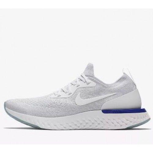 separation shoes af6c8 d9dbf ... where to buy billig nike epic react flyknit herre dame hvit bla sko  outlet 9854e c19a8