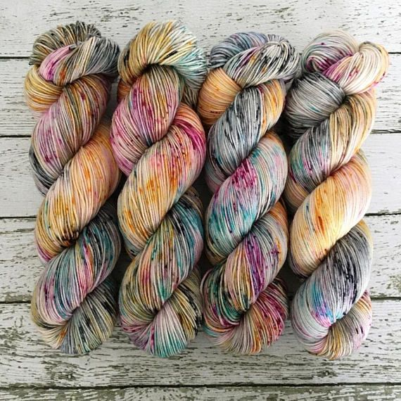 GRAFFITI Hand Dyed Yarn Signature Merino Nylon Sock Yarn