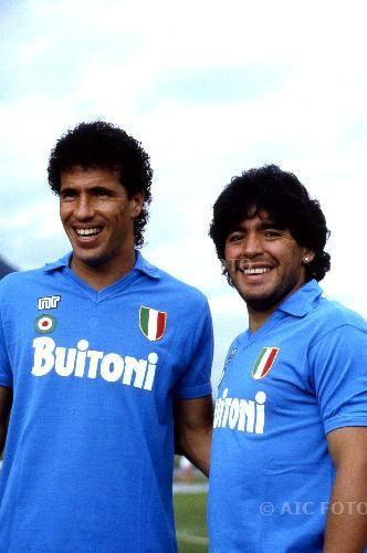 Careca & Diego Maradona ElNaple 1926 fanshop T-shirt - Sweatshirts- and Gadgets for Napoli fans http://bit.ly/ElNapleFanShop