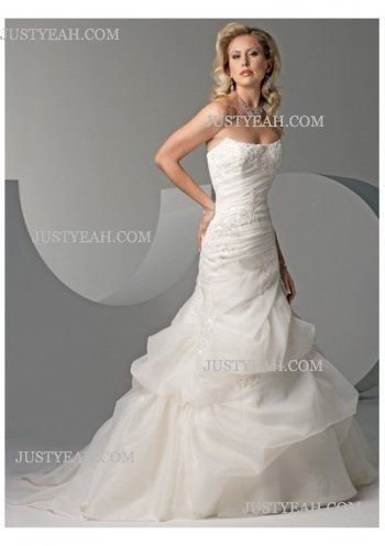 simple pretty Strapless Wedding Dresses 2016
