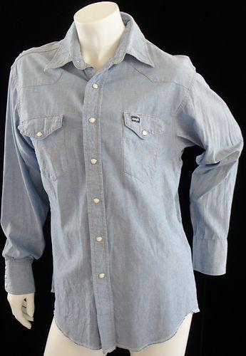 Long Sleeved Vintage Wrangler Western Shirt