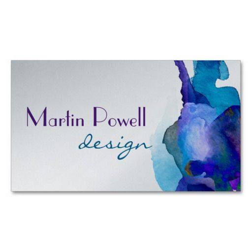 263 best business card templates artist designed images by ann modern watercolor platinum finish professional business card colourmoves