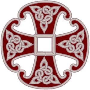 Canterbury Cross with Celtic Knots | Machine Embroidery Design