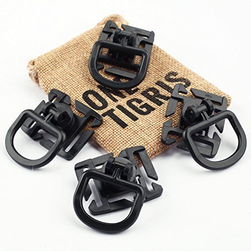 Tactical 360 Rotation D-ring Clips MOLLE Webbing Attachment