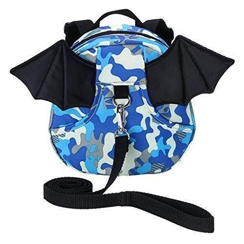 Safe Baby Harness Toddler Kids Safety Child Camouflage Bat Blue Bag Strap Rein #SafeBabyHarness
