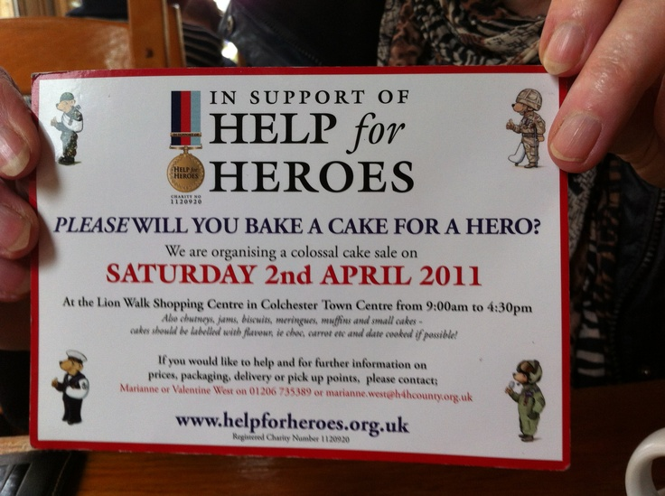 Colossal Cake Sale Help for Heroes Pinterest Cakes