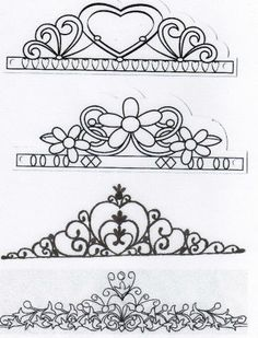 CAKES: Royal icing templates on Pinterest